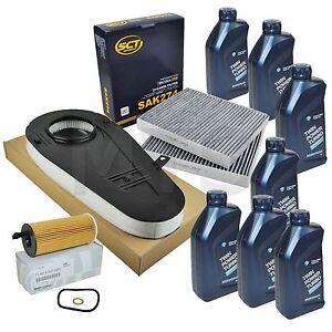Inspektionspaket F10 F11 520d 525d mit 7L ORIGINAL BMW Motoröl SAE 5W30 LL