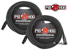 2 PACK Pig Hog 8mm Mic Cable, 50' foot XLR to XLR w/ LIFETIME Warranty. PHM50