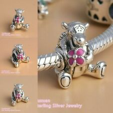 NEW Real Sterling Silver Bead Disney Tigger Winnie The Pooh Suit Charm