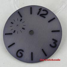 37.5mm sandwich gray dial black marks pure sterile fit ETA 6497 6498 mens watch