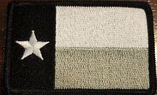 "ZDO Biker TEXAS WAVING FLAG Black Border 3/"" x 2.25/"" iron on patch 1513D"