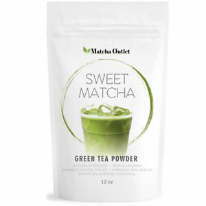 Japanese Sweet  Matcha Green Tea Powder 2 - Natural Mix with Pure Matcha 12oz