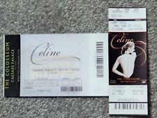 Celine Dion Caesars Colosseum Vegas 2 Different Original Concert Used Tickets