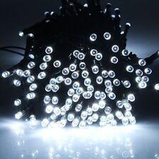 12M 100 LED Outdoor Garden Yrad White Solar Power String Fairy Light Xmas Party