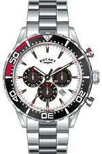 Rotary GB00051/01 Silver Dial Stainless Steel Chronograph Men's Watch
