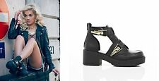 River Island Composition Leather Upper Ankle Boots for Women