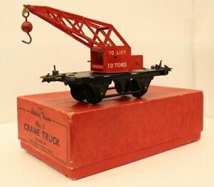 Vintage Hornby O Gauge, No 1 10T Crane Truck, Boxed