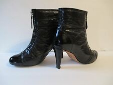 Women's High Heel Zippered Patent Leather Boots