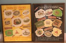 Set of 2.cuban cigars.POSTER.art wall decor/Collector's Framed and Pre-owned.