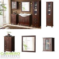 Mobile bagno set WACO 65-85 da terra legno naturale arte povera classico lavabo