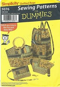 2004 Simplicity Quilted Bags Purse Sewing Pattern 5076 UNCUT