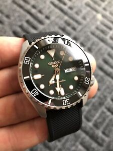 Seiko 5 Sports Automatic Divers Watch Sapphire Crystal ceramic bezel, Custom Mod