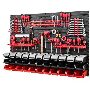Werkzeugwand 1152 x 780 mm - Lagersystem SET Lochwand mit Werkzeughaltern Boxen