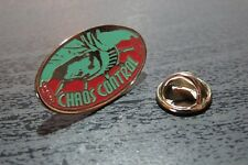 """Collectable Pin Badge """"Chaos Control"""" Game - Very Rare + Free UK Postage"""