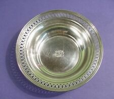 "Tiffany & Co Makers Of Sterling Silver Monogrammed 6 3./8"" Reticulated Bowl"