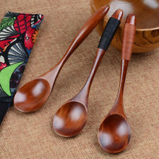 Lot Wooden Spoon Bamboo Kitchen Cooking Utensil Tool Soup Teaspoon Catering