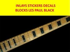 STICKER INLAY BLOCKS LES PAUL BLACK VISIT MY STORE FOR DECORATION GUITARS & BASS