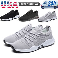 Men's Running Tennis Shoes Breathable Sneakers Casual Jogging Walking Athletic