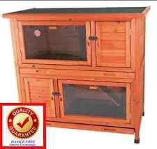 Insulated w/ Plastic Windows - Rabbit Hutch Small Animal Enclosure Cage