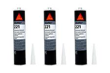 3x Sikaflex 221 300ml UNIWEISS Dichtstoff Dichtmasse Kleber weiß Kartusche Sika
