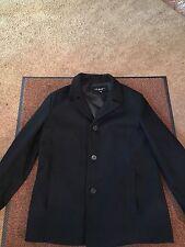 Black Rivet Wool Men's Coat XL