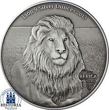 Afrika Serie: Gabun 10000 Francs CFA Silber 2013 Löwe - Lion 9 Silver Ounces