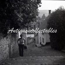 B/W 6x6 Negative Minehead Somerset Village Street Scene 1956 +Copyright Y621