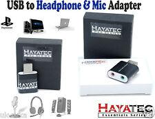 3.5mm MINI JACK CUFFIE + MICROFONO A USB Suono Audio Stereo Adattatore di alta qualità UK