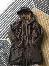 Replay Women's Ladies Brown parka coat jacket at size M (Medium)