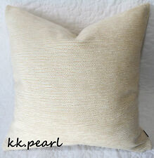 "Cushion Cover Furnishing Cream John Lewis ""ZAMBEZI""  Fabric 18"" Double Sided"