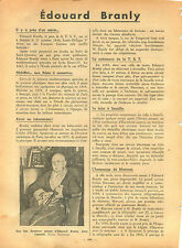 WWII Portrait d'Edouard Branly Radio TSF / Paul Reynaud France 1940 ILLUSTRATION