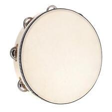 "10""Musical Tambourine Tamborine Drum jingles Percussion Instrument Xmas Gift HOT"