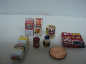 DOLLHOUSE GROCERIES/ 7-PC/ MISC.