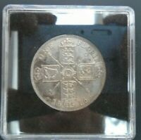UK 1916 FLORIN HIGH GRADE GEORGE V BRITISH SILVER FLORIN ref SPINK 4012 Cc1