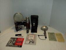 VTG Polaroid Model 80 Land Camera & Model 281 Flash Unit Filter Paperwork