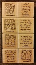 Stampin' Up QUICK & CUTE Set of 8 Wood Mounted Rubber Stamps Lot Birthday Heart
