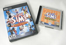 The Sims Deluxe Edition PC Maxis 2002 Livin' Large Superstar Expansion Pack EA T