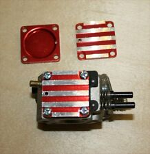 BILLET ALUMINIUM CARB PLATE for Walbro 257 etc. red  anodised