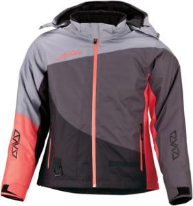 New Women's Arctiva Pivot Jacket ~ Gray/ Coral ~ Md ~ # 3121-0780