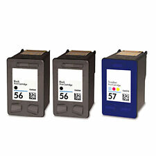 2XHP56+HP57 Reman Ink Cart 27% More Ink Office Jet 4110 4110V 4110XI 4215 5500