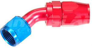 AN-10 45 Degree Hose End Fitting for Braided Hose