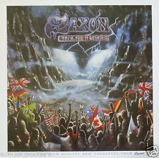 """SAXON """"ROCK THE NATIONS"""" U.S. PROMO POSTER - Heavy Metal Music"""