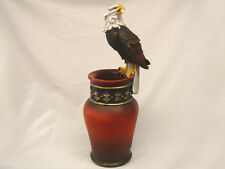 "30"" Tall Poly Resin Eagle Flower Umbrella Vase Figure Statue Perfect GIft"