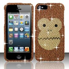 For Apple iPhone 5 5S SE Crystal Diamond BLING Hard Case Phone Cover Monkey Face
