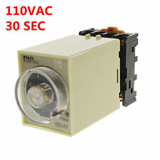 110VAC/DC 0-30 Seconds Power Off Delay Time Relay With Socket Base PF083A