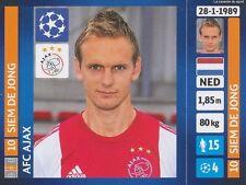 N°588 SIEM DE JONG # NETHERLANDS AFC.AJAX CHAMPIONS LEAGUE 2014 STICKER PANINI