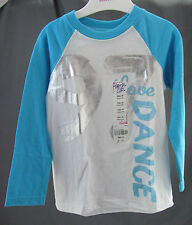 "Total Girl, Small (4), White/Blue ""Dance"" Jersey, New with Tags"
