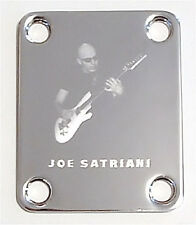 Engraved Photo Etched GUITAR NECK PLATE - Chickenfoot JOE SATRIANI - CHROME
