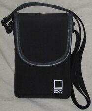 Polaroid SX-70 Camera Case, black canvas & leather trim