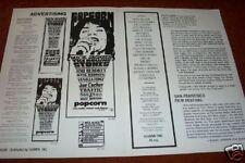 POPCORN PRESSBOOK  4 pages  RARER  ROLLING STONES